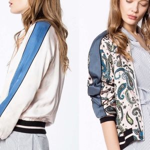 🇫🇷NWT Zadig & Voltaire Reversible Paisley Jacket